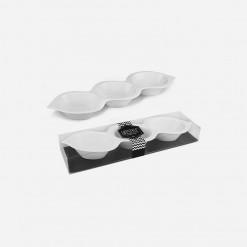 Peanut Shape Platter 3 Division | World Class Concepts Corp | WCCC