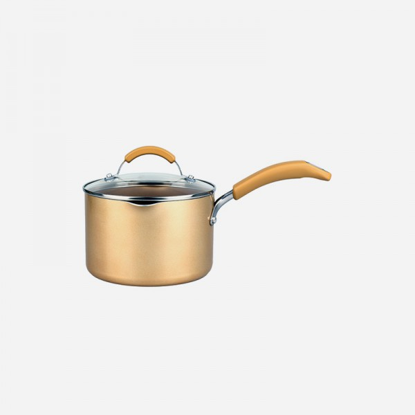14250  18cm covered saucepan GOLD 2.8L