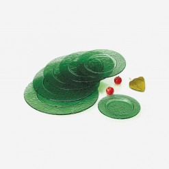 Fairway Round Glass Platters Green | WCCC