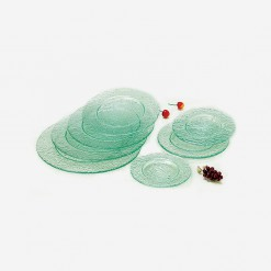 Fairway Round Glass Platters Clear | WCCC