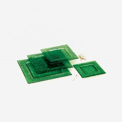 Fairway Square Glass Plates Green | WCCC