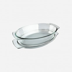 Home Discovery Oval Glass Casserole with Cover | WCCC