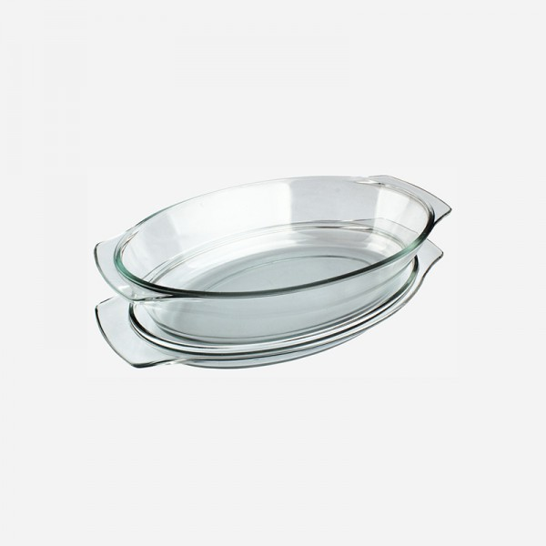 Oval Glass Casserole with Cover 280375-GB