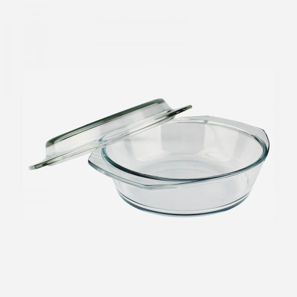 Round Glass Casserole with cover 260029-GB