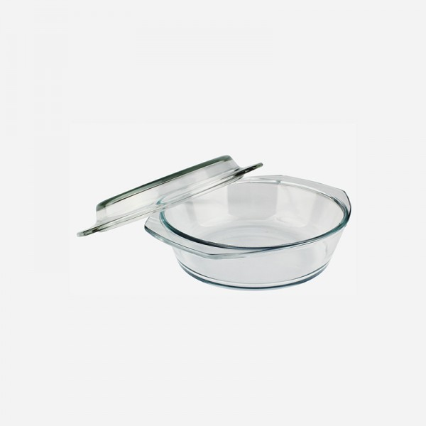 Round Glass Casserole with cover 280373-GB
