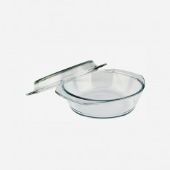 Home Discovery Round Glass Casserole with Cover | WCCC