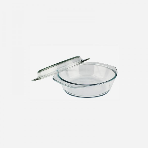 Round Glass Casserole with cover 280382-GB