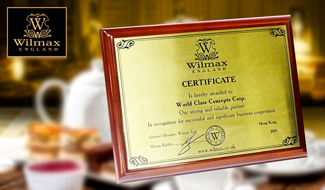 Wilmax Certificate | WCCC