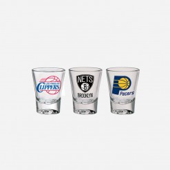 NBA Solo Shot Glass Clippers Nets Pacers | WCCC